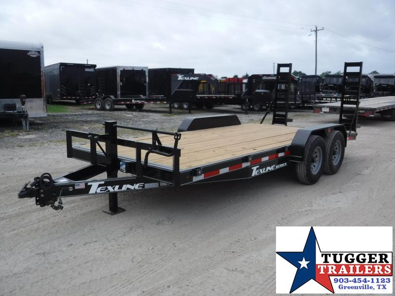2019 TexLine 83x18 18ft Flatbed Utility Bobcat Equipment Trailer