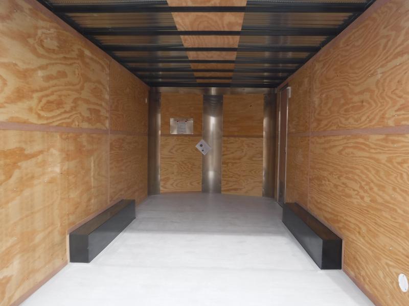 2019 Cargo Craft 8.5x16 16ft White 2019 Ramp Enclosed Cargo Trailer