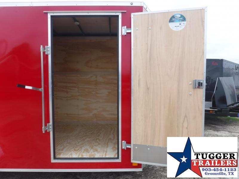 2019 Cargo Mate 7X16 16FT Red Ramp Enclosed Cargo Tandem Axle Trailer