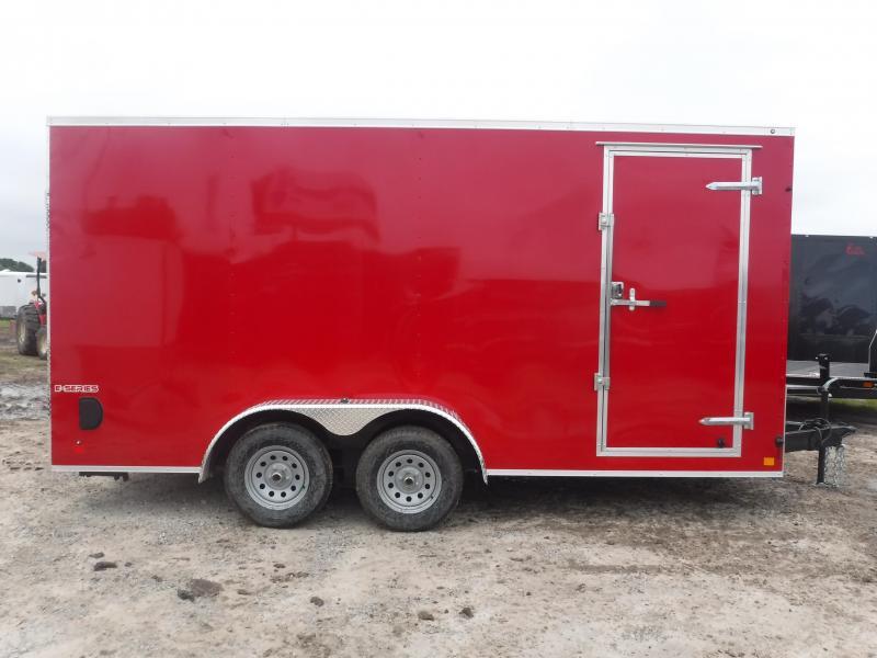 2019 Cargo Mate 7X16 16FT Red Ramp Enclosed Cargo Trailer