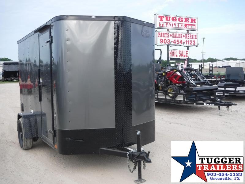 2019 Cargo Craft 6x10 10ft Elite Plus 2' V-Nose Blackout Enclosed Cargo Trailer