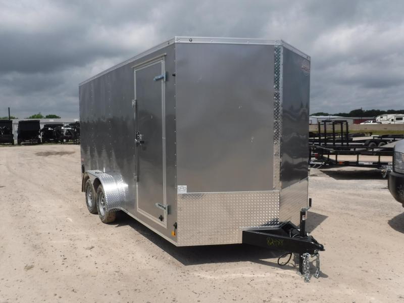 2019 Cargo Mate 7X16 16ft E-Series Silver Ramp Enclosed Cargo Trailer