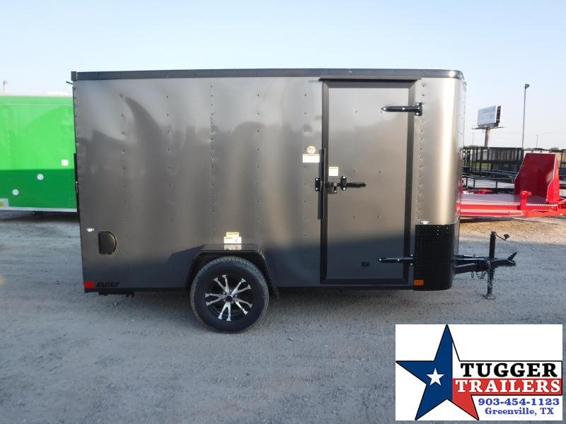 2020 Cargo Craft 6x10 Elite 2' V-Nose Blackout Enclosed Cargo Trailer