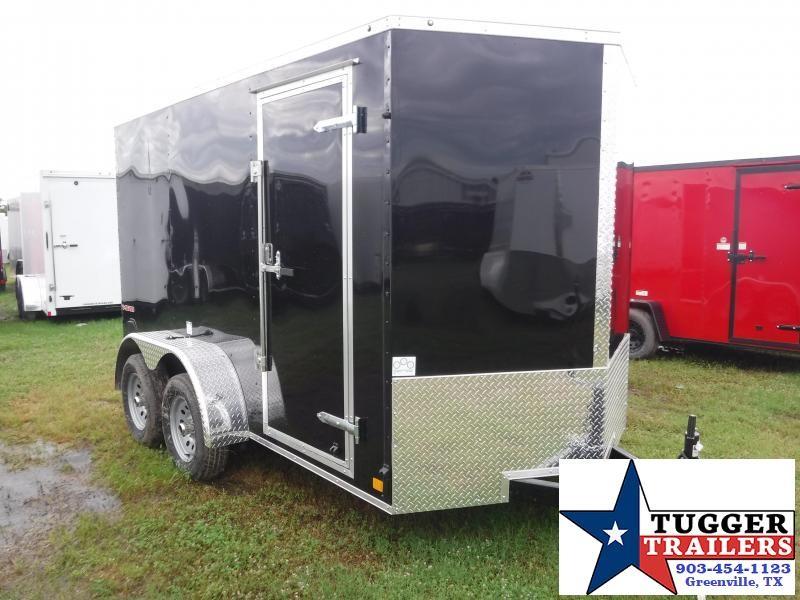 2019 Cargo Mate 6x12 LE Ramp Black Enclosed Cargo Trailer