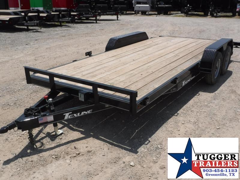2018 TexLine 83 X 18 Texline Car Hauler Flatbed Trailer