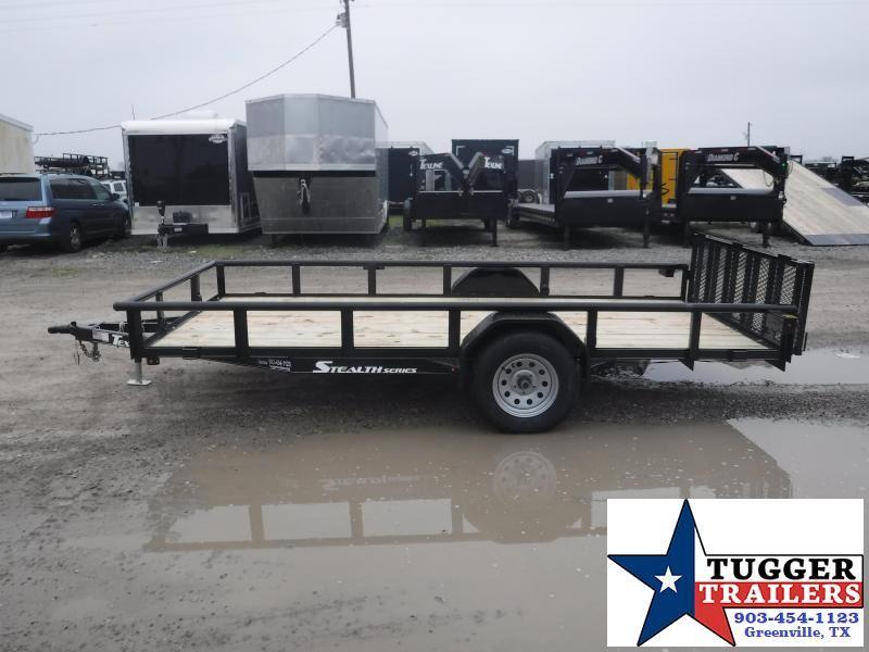 2019 TexLine 77x14 14ft Black 2019 Stealth Utility Trailer