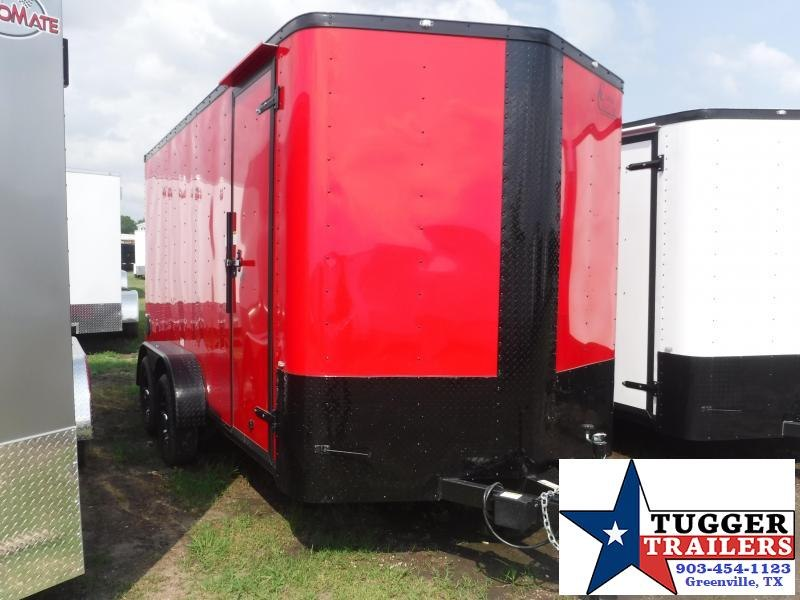 2019 Cargo Craft 7X14 14ft Red Black Out Ramp Enclosed Cargo Tandem Axle Trailer