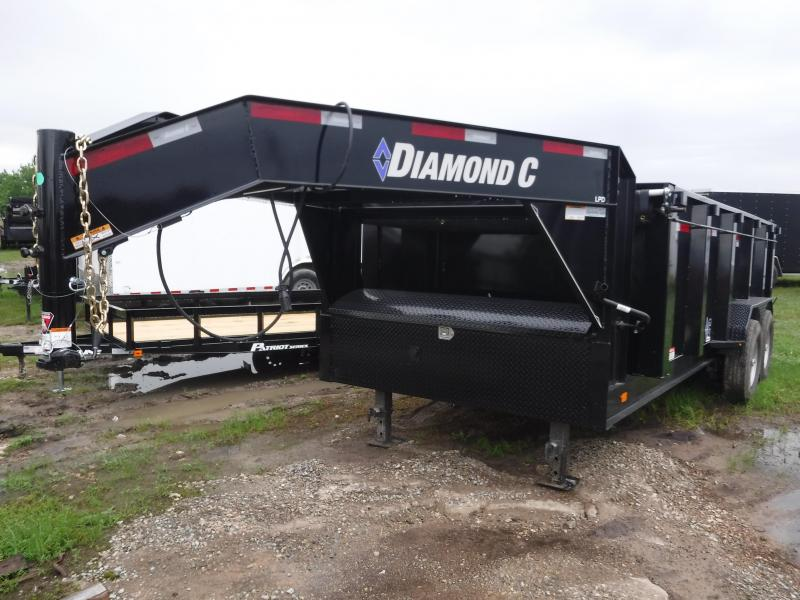 2019 Diamond C Trailers 82X16 16FT Black 2019 Gooseneck LPD Dump Trailer