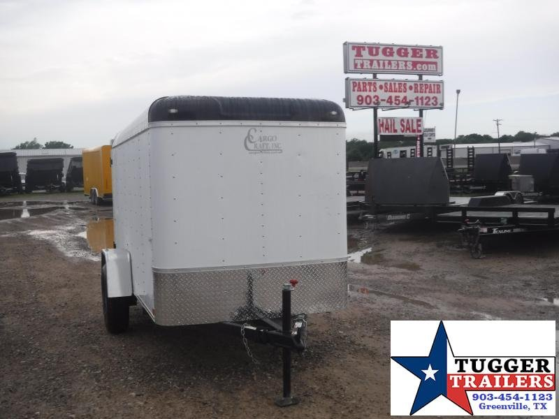 2019 Cargo Craft 5x10 10ft Explorer White Swing Door Enclosed Cargo Trailer
