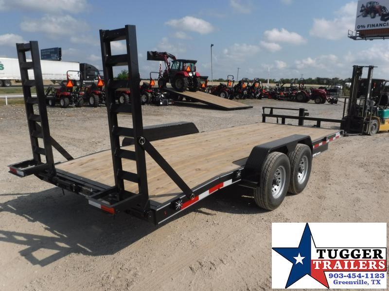 2019 TexLine 83x20 20ft Bobcat Dovetail Flatbed Dovetail Equipment Trailer