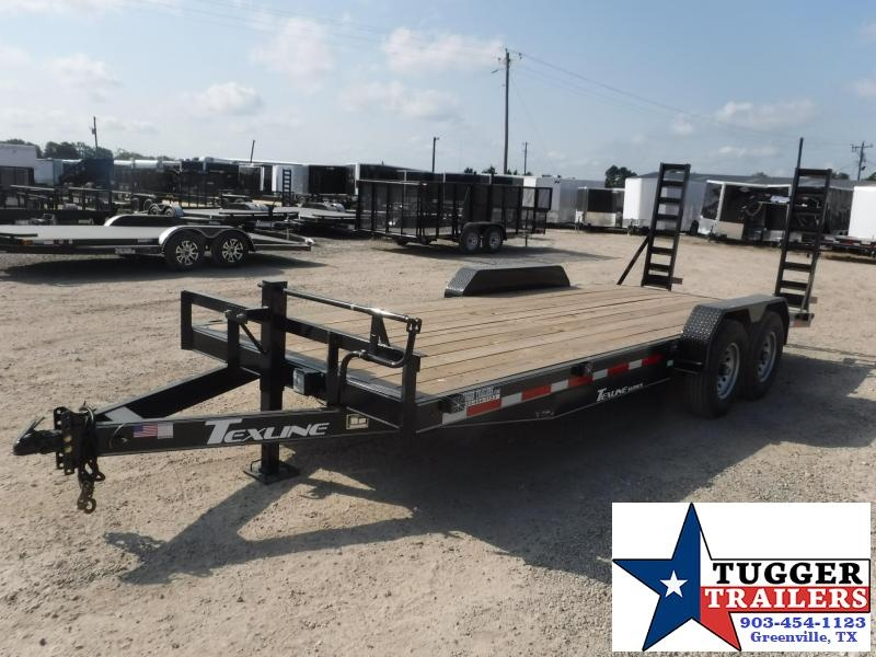 2019 TexLine 83x20 20ft Bobcat Dovetail Flatbed Dovetail Equipment Trailer