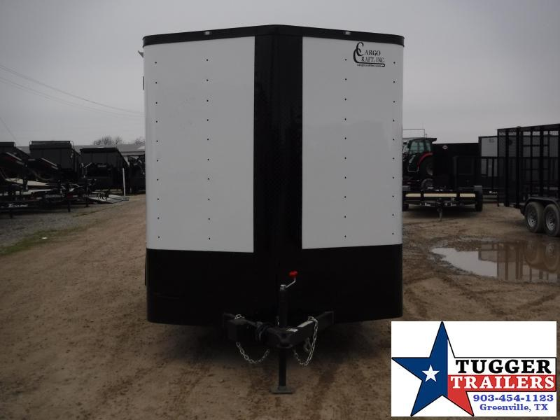 2019 Cargo Craft 7x14 14ft Black-Out White 2019 Tandem Axle Ramp Enclosed Cargo Trailer