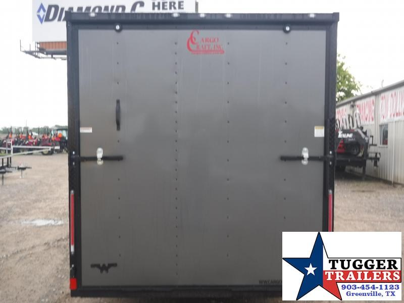 2019 Cargo Craft 7x16 16ft Charcoal Blackout Ramp Enclosed Cargo Trailer