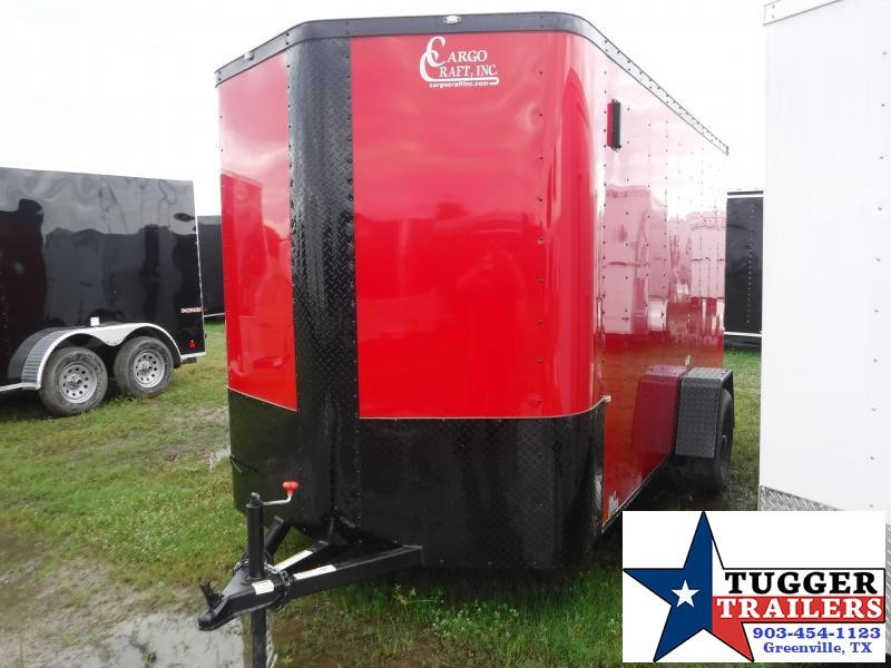 2019 Cargo Craft 6x12 12ft Elite Black Out Red V-Nose Enclosed Cargo Trailer