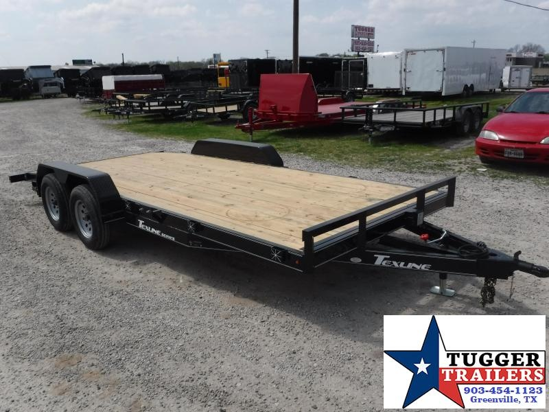 2018 TexLine 83x16 16ft Deluxe Flatbed Tow Car / Racing Trailer