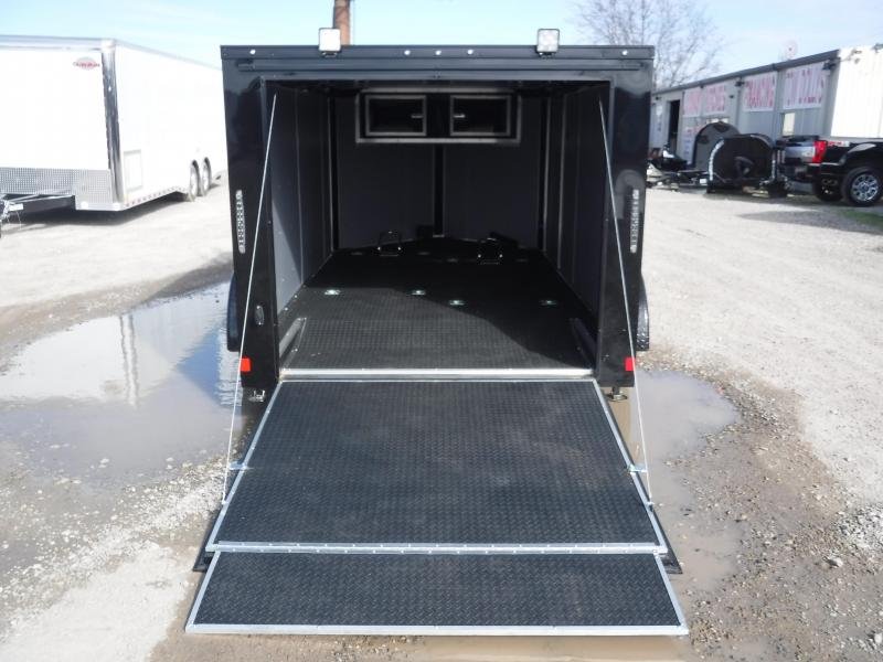2019 Cargo Mate Trailers 7X12 Blazer Black Out Enclosed Cargo Trailer