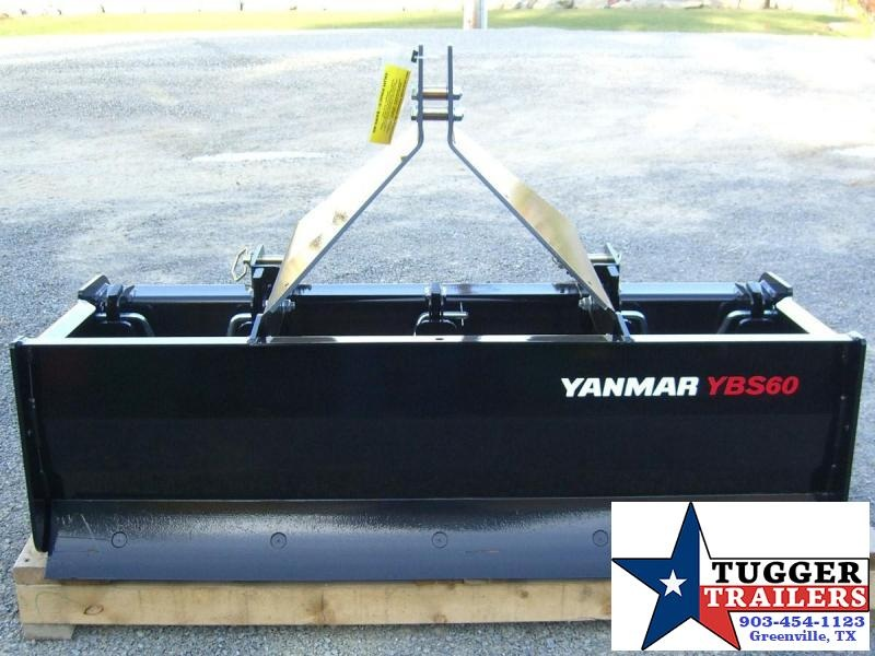 "60"" Yanmar (by Woods Equipment) 3-Point Tractor Box Scraper / Box Blade Model YBS60"