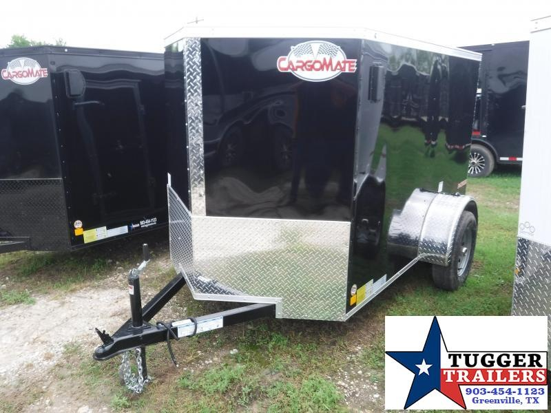 2020 Cargo Mate 5X8 8FT E-V Black Ramp Enclosed Cargo Single Axle Trailer