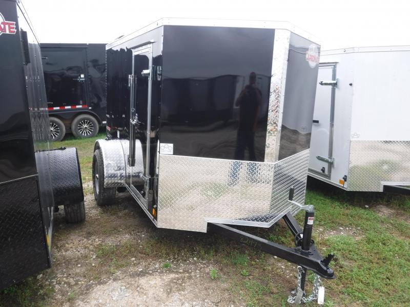 2020 Cargo Mate 5X8 8FT E-V Black Ramp Enclosed Cargo Trailer