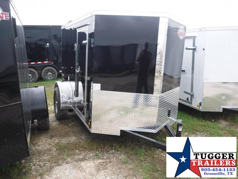 2020 HAIL SALE! Cargo Mate 5X8 8FT E-V Black Ramp Enclosed Cargo Single Axle Trailer