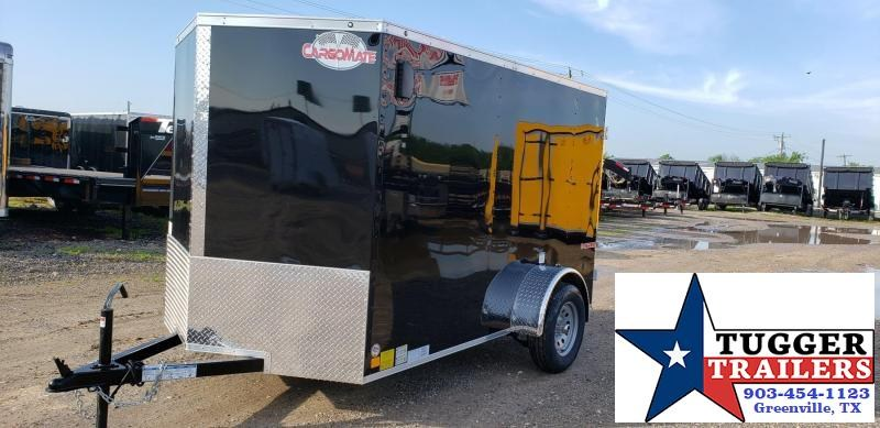 2020 Cargo Mate 6X10 10ft E-V Black Double Door Enclosed Cargo Single Axle Trailer
