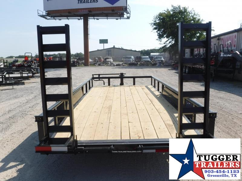 2019 TexLine 83x16 16ft Pipe Top Utility Bobcat Flatbed Trailer