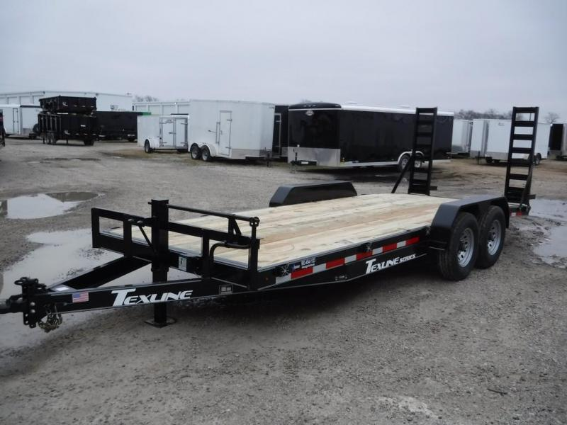 2019 TexLine 83X20 20ft Bobcat Dovetail Flatbed Utility Equipment Trailer