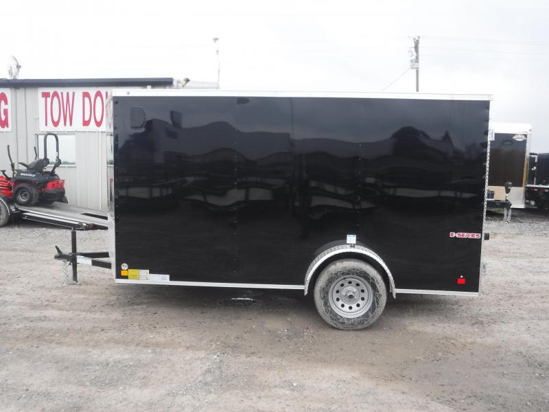 2020 Cargo Mate 6X12 12FT E-V Black Double Door Enclosed Cargo Trailer