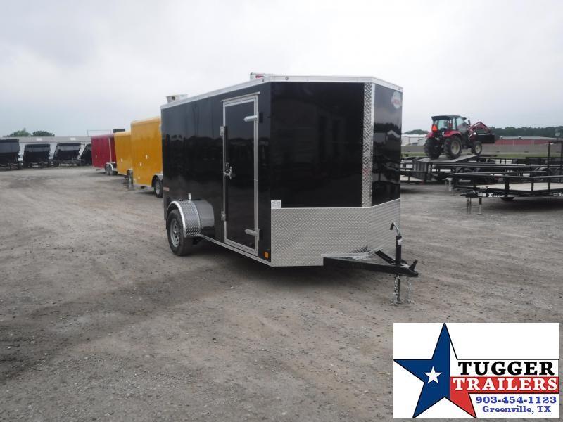 2020 Cargo Mate 6X12 12FT E-V Black Double Door Single Axle Enclosed Cargo Trailer
