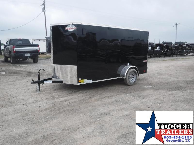2020 HAIL SALE! Cargo Mate 6X12 12FT E-V Black Double Door Single Axle Enclosed Cargo Trailer