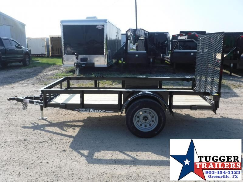 2019 TexLine 5x10 10ft Utility Ramp Flatbed Trailer