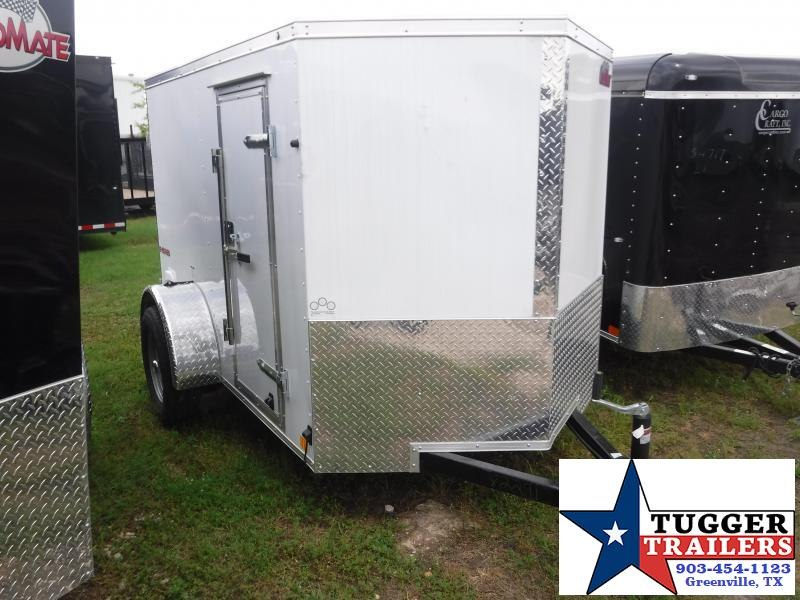 2019 Cargo Mate 5x8 8ft E-V White Double Door Enclosed Cargo Trailer