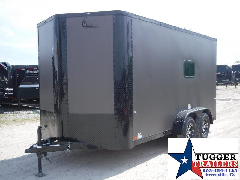 2020 Cargo Craft 7x14 14ft Blackout Bronze Ramp Enclosed Cargo Trailer
