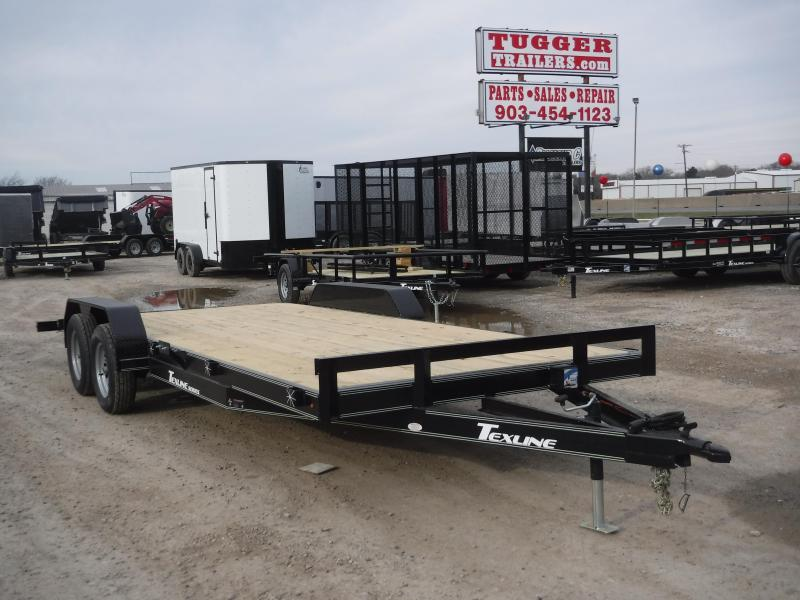 2019 TexLine 83x20 20ft Deluxe Car Hauler Utility Trailer
