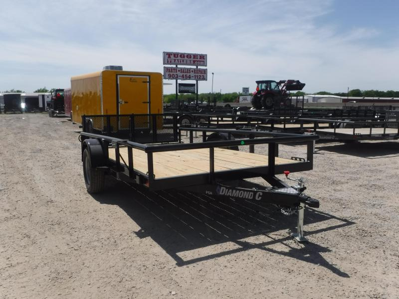 2019 Diamond C Trailers 77x12 12ft PSA135 2019 Black Utility Trailer