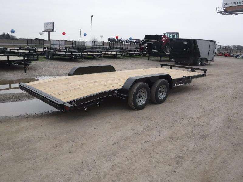 2019 TexLine 83x20 20ft Deluxe Car Hauler Utility Trailer