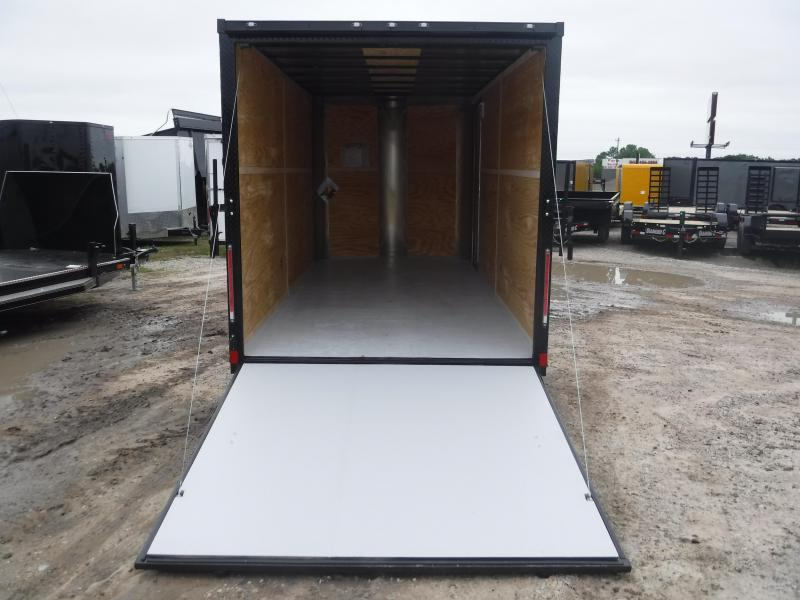 2019 Cargo Craft 7X16 16FT Red Blackout Ramp Enclosed Cargo Trailer