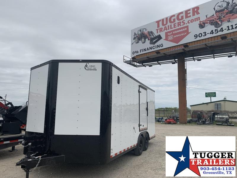 2019 Cargo Craft 8.5x18 2 V-Nose 18ft Toy ATV Side Enclosed Cargo Trailer