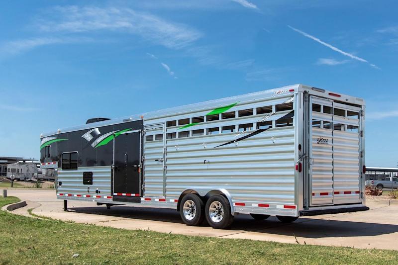 2019 Exiss STC 8034 LQ 7.8 Tall Livestock Trailer