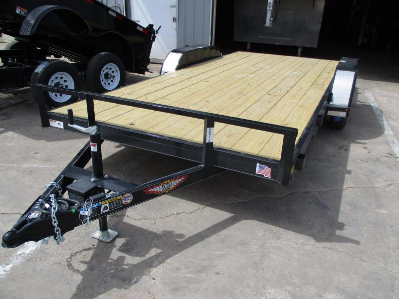 2019 H and H Trailer Car Hauler Flatbed Trailer