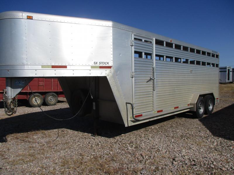 1998 Exiss Trailers Stock Livestock Trailer