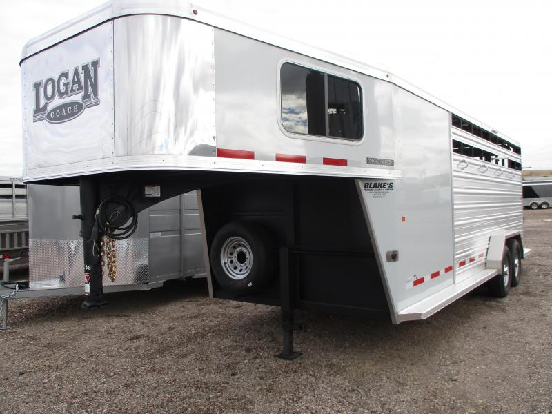 2019 Logan Coach Stock Combo Livestock Trailer 7 X 20