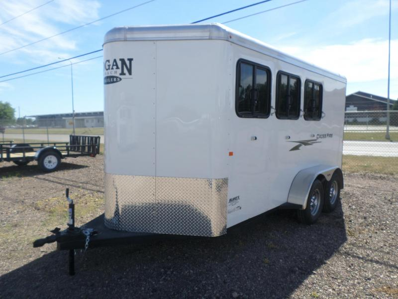 2019 Logan Coach Cross Fire 3 Horse Trailer