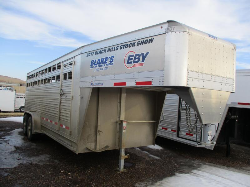 2017 Eby Trailers Maverick Livestock Trailer 7 X 20