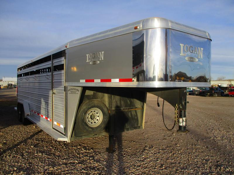 2014 Logan Coach Stockman Livestock Trailer 7 X 22
