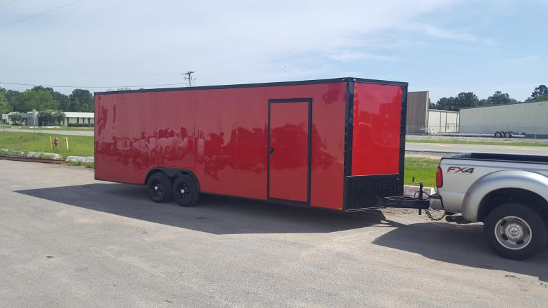 8.5 x 24 Red/Blackout TA3 Car / Racing Trailer in Dry Branch, GA
