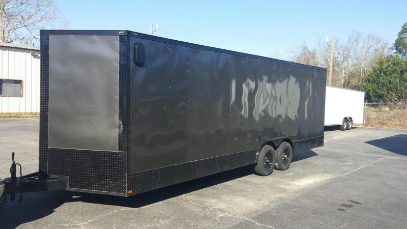 8.5 x 24 TA3 Char/Blackout Car / Racing Trailer