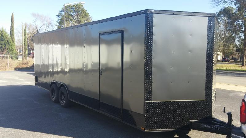 8.5 x 24 TA3 Char/Blackout Car / Racing Trailer in Leslie, GA