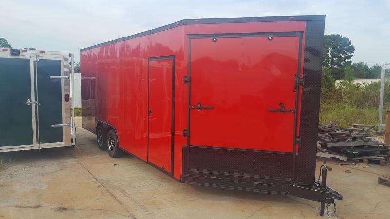 5' V NOSE RAMP Enclosed Cargo Trailer in Putney, GA