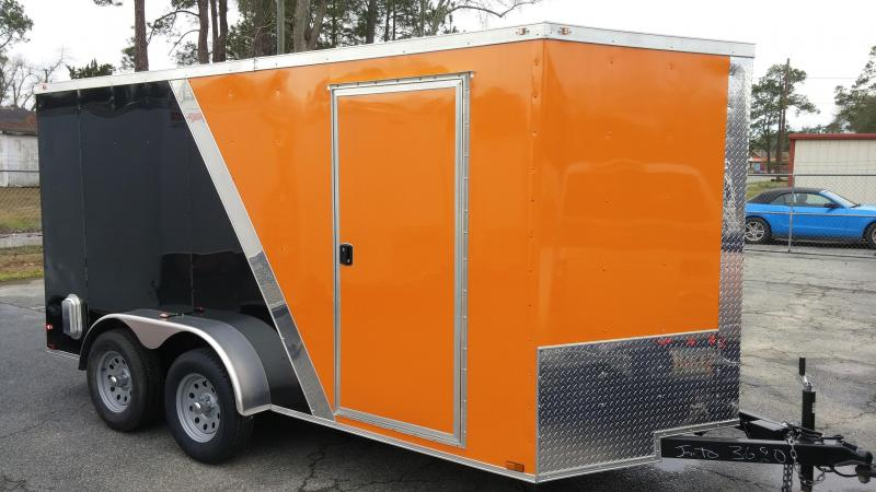 7 X 14 TA Motorcycle Trailer Two Tone